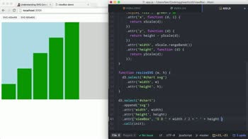 AngularJS tutorial about Responsive D3 charts with the viewBox attribute
