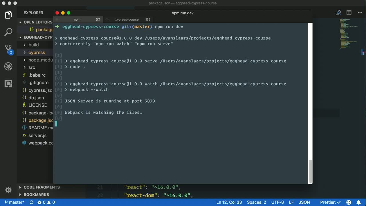 cypress tutorial about Run Cypress Tests without the UI