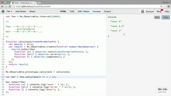 AngularJS tutorial about Transformation operator: map and mapTo
