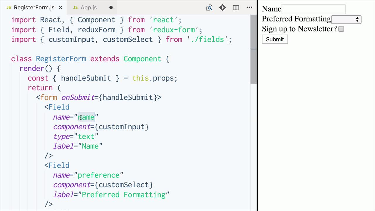 Manage React Form State with redux-form from @alan0buchanan