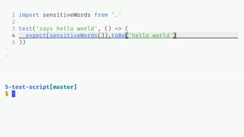 js tutorial about Set up testing of source code using jest with npm scripts