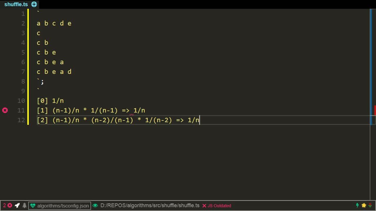 typescript tutorial about Shuffle an array