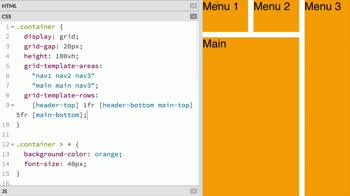 css tutorial about Specify grid columns, rows, and areas at once with the grid-template shorthand