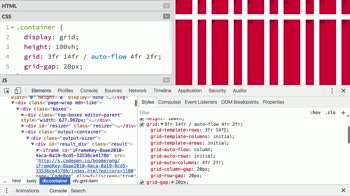 css tutorial about Specify many grid properties at once with the grid shorthand