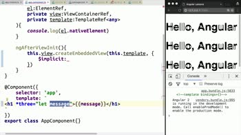 AngularJS tutorial about Implement Structural Directive Data Binding with Context in Angular 2