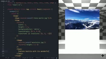react tutorial about Structure 2D Content like Images and Text using the View component in React VR
