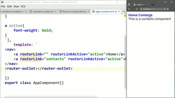 angular2 tutorial about Style the Active Angular 2 Navigation Element with routerLinkActive