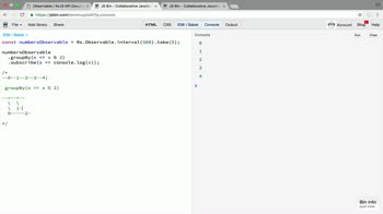 AngularJS tutorial about Split an RxJS Observable into groups with groupBy