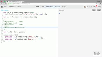 AngularJS tutorial about Transformation operator: repeat
