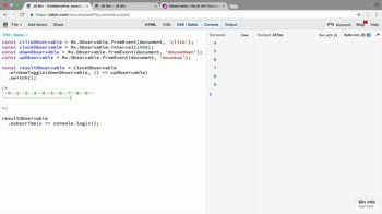 AngularJS tutorial about Split an RxJS observable conditionally with windowToggle