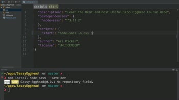 css tutorial about Transpile SCSS to CSS using node-sass