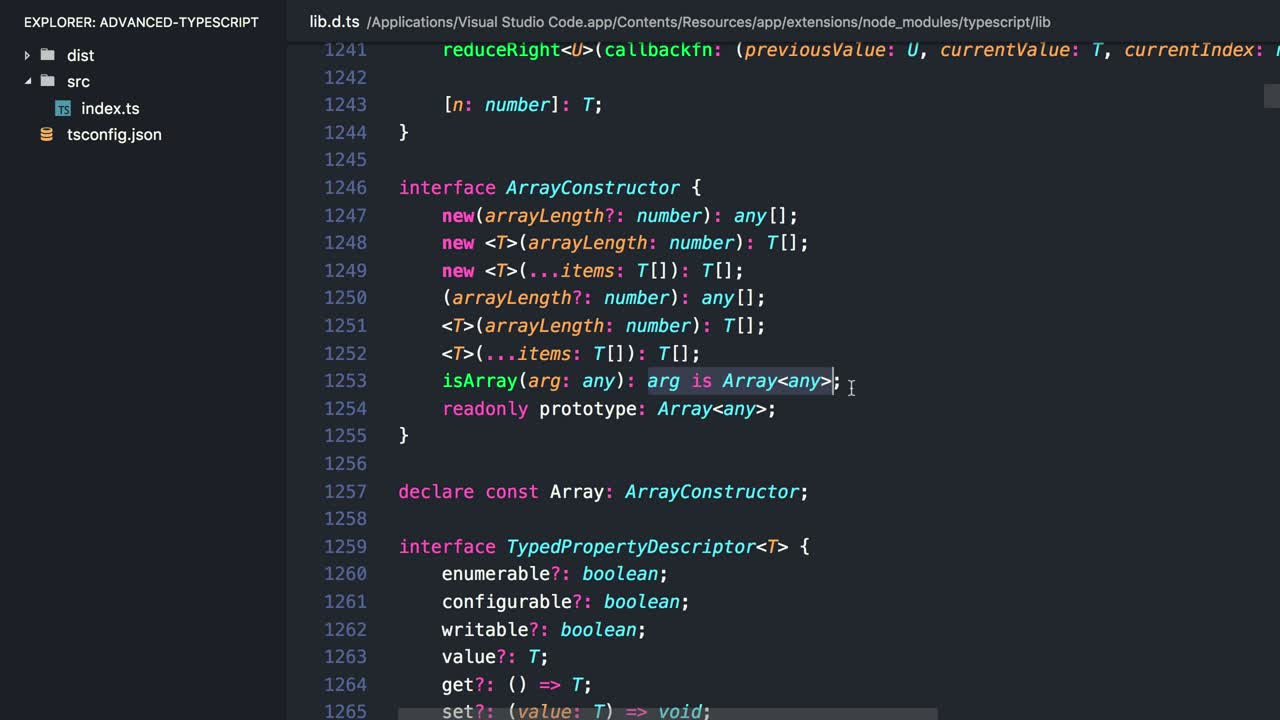 typescript tutorial about Define Custom Type Guard Functions in TypeScript