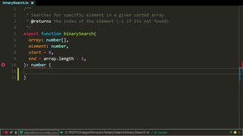 typescript tutorial about Binary Search Algorithm using TypeScript