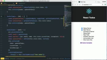react tutorial about Update data on the Server with fetch