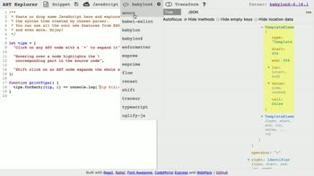 js tutorial about Use ASTExplorer.net