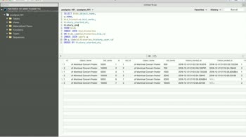 postgres tutorial about Create a History Table in Postgres with Joins