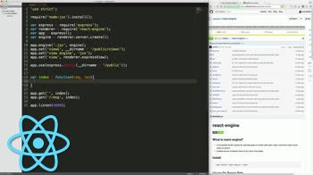 AngularJS tutorial about Use JSX as an Express templating engine with react-engine