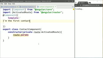 angular2 tutorial about Use Params from Angular 2 Routes Inside of Components