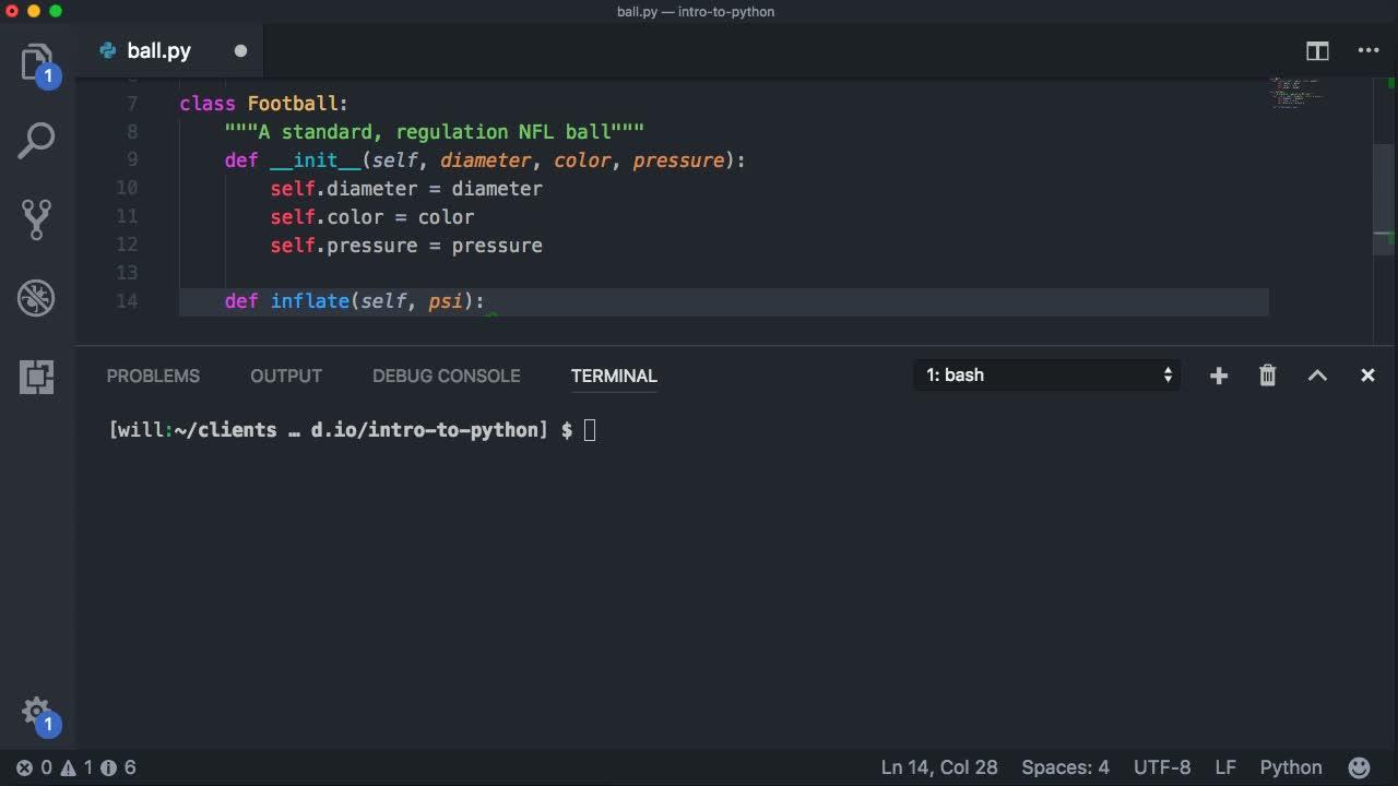 python tutorial about Use Python Classes