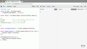 rxjs tutorial about Use takeUntil instead of manually unsubscribing from Observables