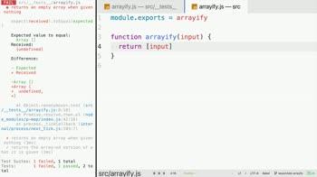 js tutorial about Use Test Driven Development