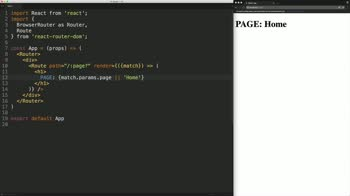react tutorial about Use URL Parameters with React Router v4