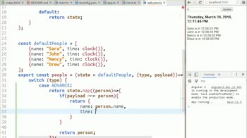 angular2 tutorial about Using a Reducer to Change an Object's Property Inside an Array