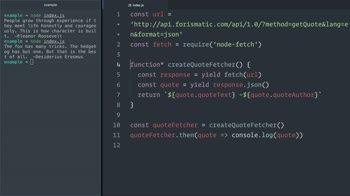 javascript tutorial about Use JavaScript (ES6) generators with Promises to handle async flows