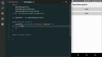 js tutorial about Use Speech Recognition with NativeScript