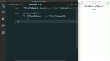 js tutorial about Using Text to Speech with NativeScript