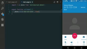 nativescript tutorial about Using the device Phone and SMS with NativeScript