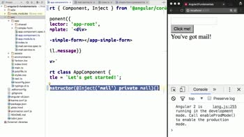 angular tutorial about Provide and Share Values with Angular 2 Dependency Injection