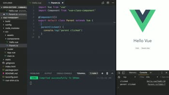 vue tutorial about Extend Vue Components in TypeScript