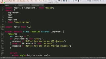 react tutorial about Writing Platform-Specific Components for iOS and Android in React Native