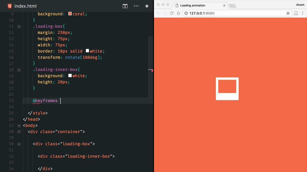 Build a Fluid Loading Animation in CSS from @AkashGutha on @eggheadio