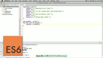 AngularJS tutorial about ES6 (ES2015) - Generators
