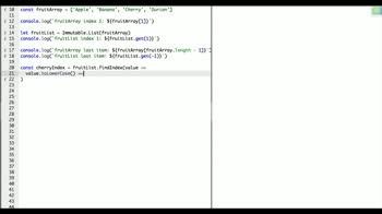 immutable tutorial about Get items in an ImmutableJS List