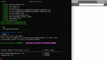 ember tutorial about Initialize a project using Glimmer.js