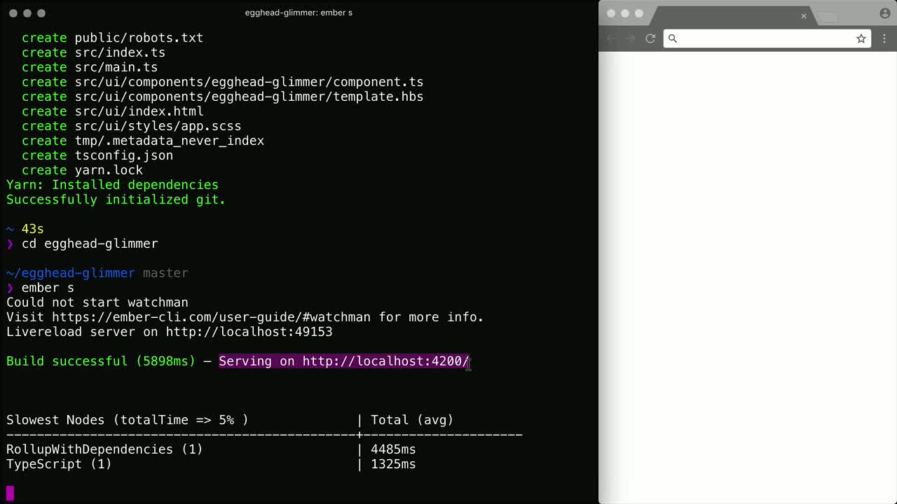 js tutorial about Initialize a project using Glimmer.js