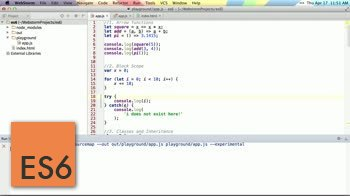ECMAscript 6 tutorial about Intro to ES6 and traceur compiler