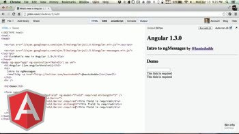 angularjs tutorial about Introduction to ng-messages for AngularJS