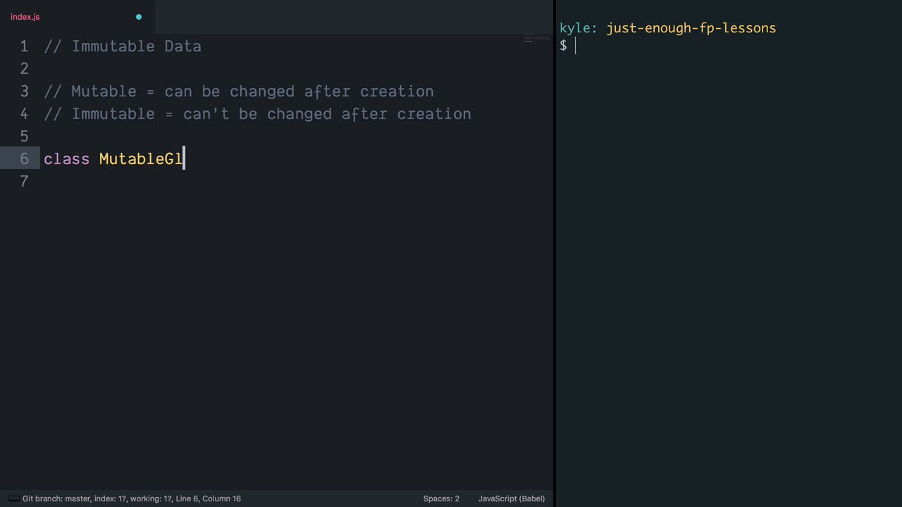 Just Enough Functional Programming in JavaScript from @kyleshevlin