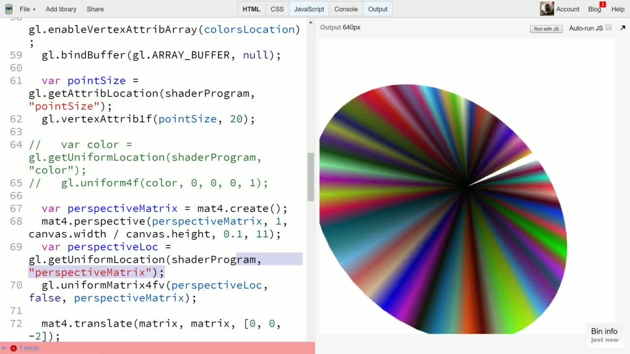 js tutorial about Draw more complex 3D Models using Triangle Fans in WebGL