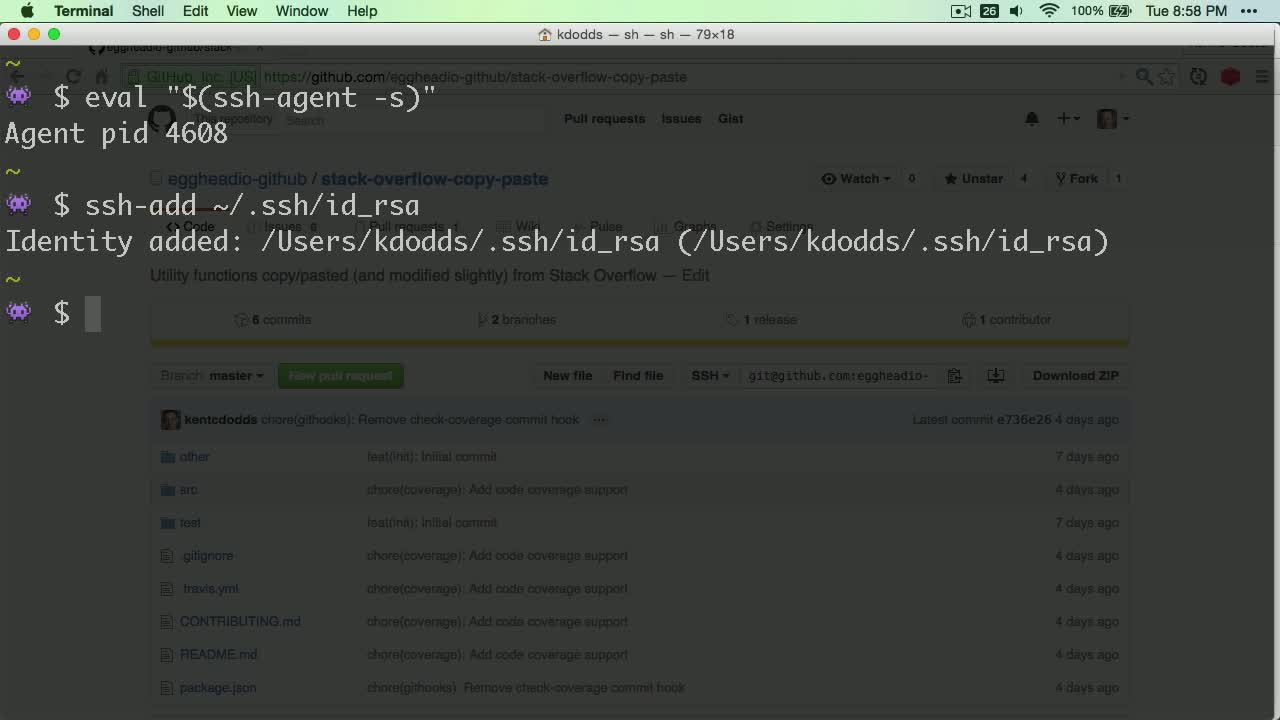 git tutorial about How to authenticate with GitHub using SSH