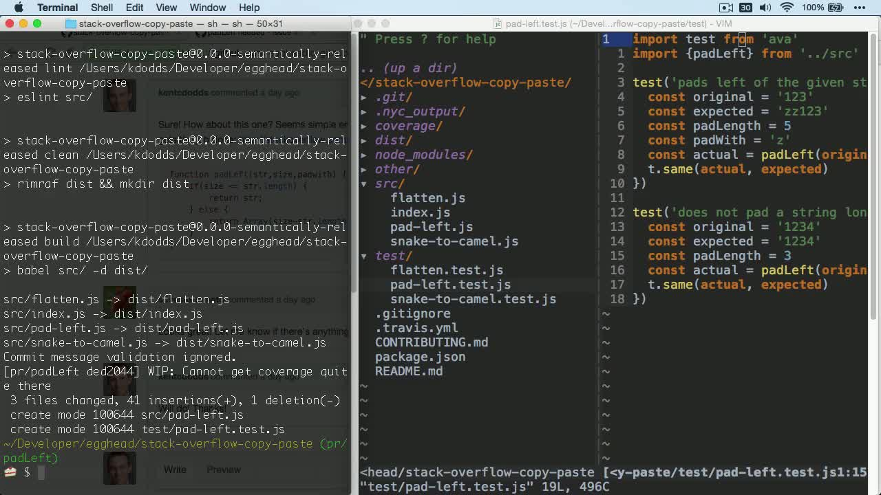 js tutorial about How to create a Pull Request on GitHub