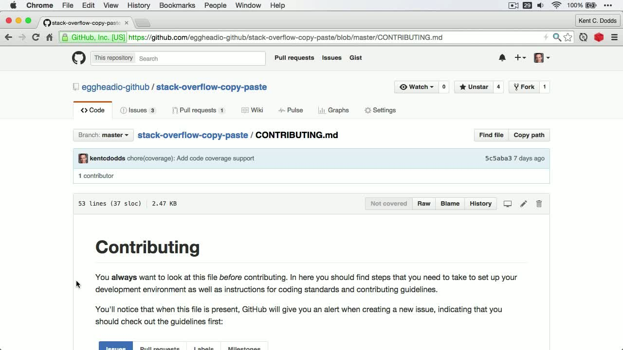 git tutorial about Identifying How to Contribute to an Open Source Project on GitHub