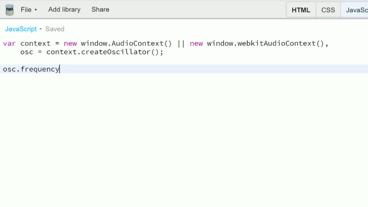 javascript tutorial about Intro to the Web Audio API