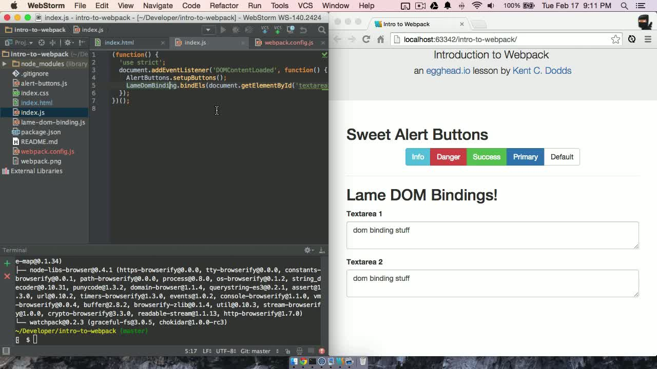 AngularJS tutorial about Intro to Webpack