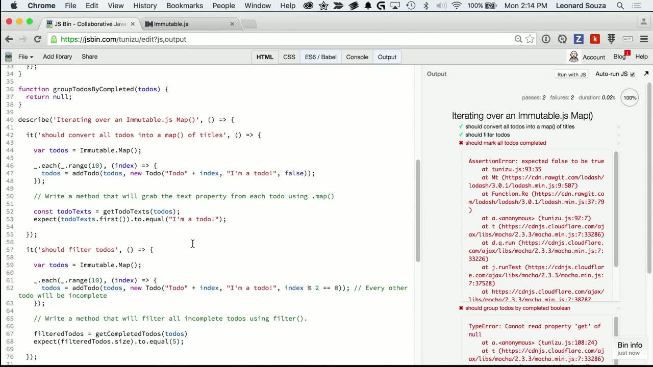 js tutorial about Iterating Over an Immutable.js Map()