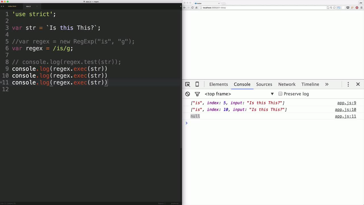 javascript tutorial about Get Started with Regular Expressions in JavaScript